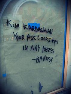 Hahaha.. Oh Banksy..