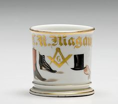 144: Boot and Hat Maker's Occupational Shaving Mug,  : Lot 144