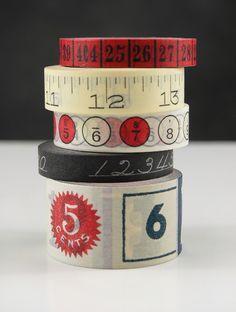 numbers washi tape