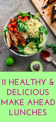 11 easy make ahead lunch recipes