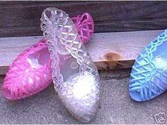 Jelly shoes = stinky feet!