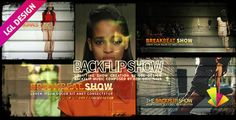 "The House Backflip ShowThe ""House Backflip Show"" template for after effects (CS 5.0 Full HD) is great to pormote events or products, highlight your favoriete media (videos or pictures) and a lot of other activities. No plugin required. 9 Media holders, 2 logo holders and 16 texts spots. PDF Help file and free fonts links included. Dynamic intro."
