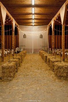 Barn wedding wedding lights decor country barn