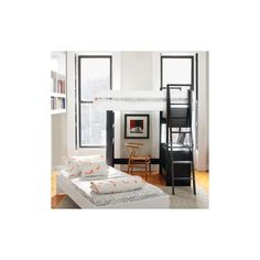 Furniture :: By type :: BUNK BEDS :: UFFIZI BUNK BED - ebony support / birch beds -