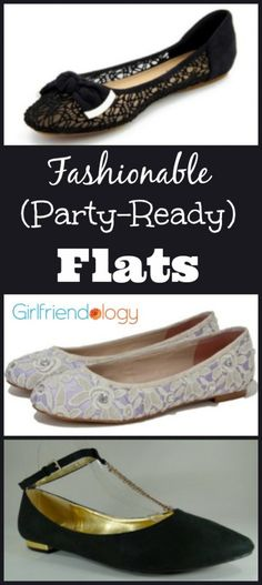 fashionable party-ready flat shoes