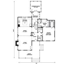 This plan works! Only 44-feet wide. Wildmere Creek Cottage, plan #1110