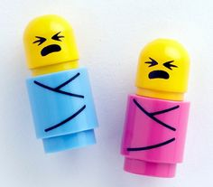 For the LEGO-obsessed household–minifig babies!