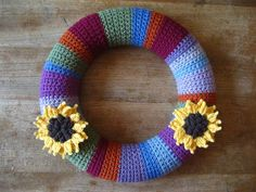 Crochet wreath by Lucy of Attic 24