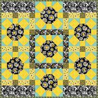 "FREE pattern: ""Spinning Daisy"" by Debby Kratovil via Benartex"