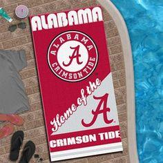 Alabama Crimson Tide 28'' x 58'' Fiber Reactive Beach Towel - Crimson