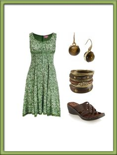 summer dress, created by jenkrock on Polyvore