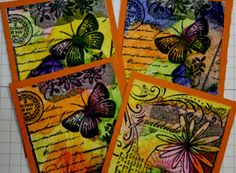How to use Wax Crayons, how to use crayola crayons, card ideas, 1