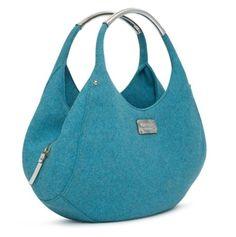 felt shon, felt bags, blue frost, cobalt blue, spade peacock