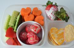 Pack a healthy valentines lunch for your kiddo.  Here's a cute idea.
