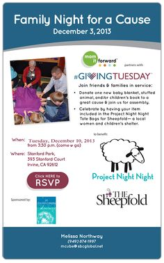 Giving Tuesday goes on - Project Night Night SoCal event. #SpreadingJoy