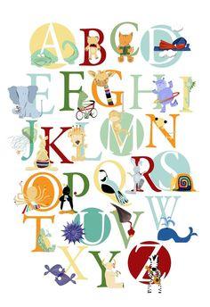 Cute. #abc #Alphabet #Lettres #Letters