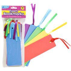 librari craft, craft bookmark, foam crafts, school craft