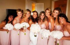 idea, light pink, bridesmaid dresses, pale pink, dusty pink