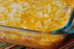 Warm Bean Dip:1 pkg cream cheese,1 cup sour cream,2 cans refried beans,  1 packet taco seasoning,2 cups cheddar  2 cups monterey jack cheese. Mix together cream cheese, sour cream  refried beans until combined. Stir in taco seasoning. Spray a 9x13. Spread into baking dish. Sprinkle cheeses on top. Bake for 25-30 mins on 350