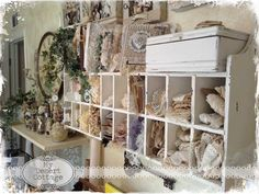 Welcome to Where Bloggers Create 2014: lace cubby