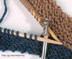 Two Hooked Seams: Using a Crochet Hook. (Lara Neel)