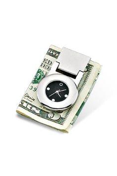 WILOUBY CLOCK MONEYCLIP  Please follow us @ http://www.pinterest.com/jeniferkane01/