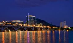 Mill Ave Bridge at Tempe Town Lake, Tempe AZ. Loved when they lit it up
