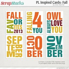 Fall: PL Life Cards by Lorie