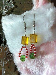 New Christmas earrings I made!