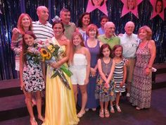 Cathy Finnegan / Kendall Coughlin poses with her family Saturday, Aug. 9 after being crowned Miss Ocean City 2015 inside the Ocean City Music Pier.
