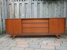 Buy or cry on pinterest teak commode vintage and retro for Meuble antique montreal