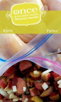 Paleo April 2013 Freezer Menu from Once A Month Mom #paleo #freezer