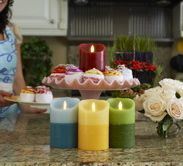 Luminara candles - battery operated wax candles that are virtually indistinguishable from the real thing!