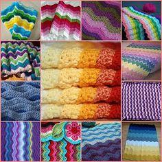 crochet ripple blankets