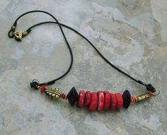 Necklace with Red  H