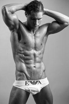 TAVI / © PAUL VAN DER LINDE paulvanderlinde.com # pecs six pack abs bare chest hunk hot guy nice arms male fitness model body musculoso man men shirtless eye candy adonis briefs