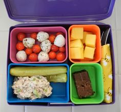 Shelly's Dill & Onion Tuna Salad & Homegrown Tomato Salad Bento Box Lunch Snack #Healthy #Recipes #LowCarb #Protein #Bento