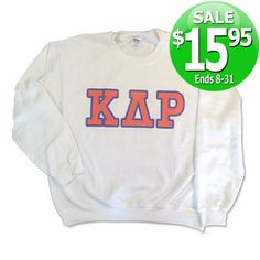 Fraternity Printed Crewneck with 5-inch letters - SALE ends 8/31/14! #fraternity #clothing #greek #apparel