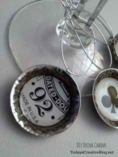 DIY Drink Charms using Mod Podge Dimensional Magic - Todays Creative Blog