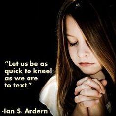 Praying & texting.