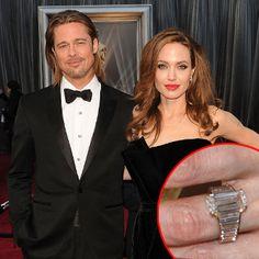 Angelina Jolie's engagement ring from Brad Pitt.
