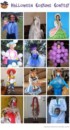 Homemade Costumes for Girls - a lot of homemade costume ideas!