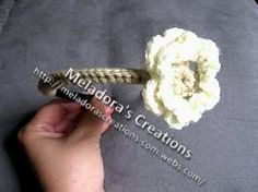 Petite Flower Headband - Meladora's Creations Free Crochet Patterns & Tutorials
