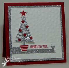 stampercamper.com - It's the last day of Preview Week for Create with Connie and Mary Holiday Collection 2014 and I wanted to share a special card with you! This reminds me of a silver tinsel tree my grandma use to have! All the details on my blog. Set: Festival of Trees