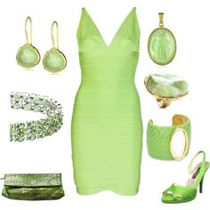 lime green, lime dress