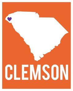 Clemson Art Print by cr2f on Etsy, $18.00