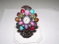 Flower Watch cuff bracelet bangle***free ship-no fees***