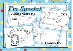 I Am Special - A book about Me (19 pages) Freebie