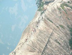The highest of the five peaks of Mt. Huashan. People come from all over the world to risk this dangerous path, because of what's waiting up there at the top.