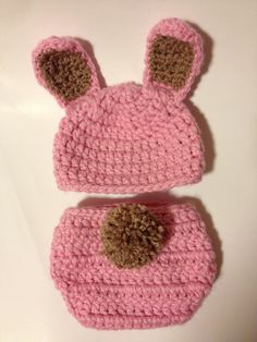 Bunny hat and diaper cover